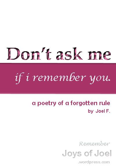 Why don t you love me Poems