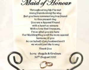 Maid Of Honor Toast Poem | Wedding Ideas
