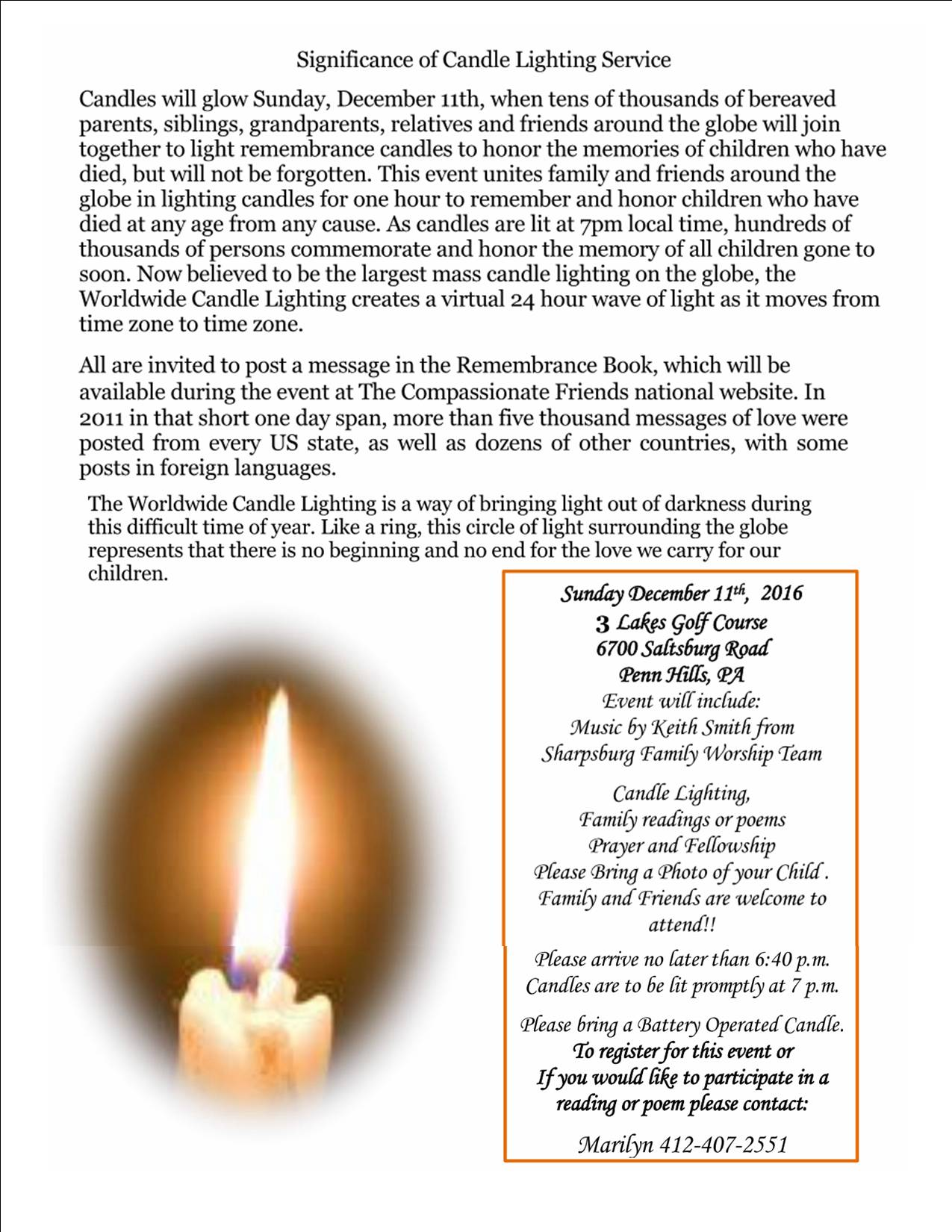 Candle lighting poems world wide candle lighting service for bereaved parents aloadofball Choice Image