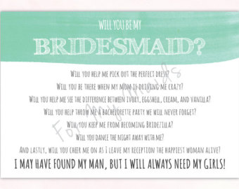 funny thank you poems for bridesmaids