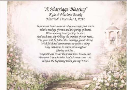 Blessing for 50th wedding anniversary
