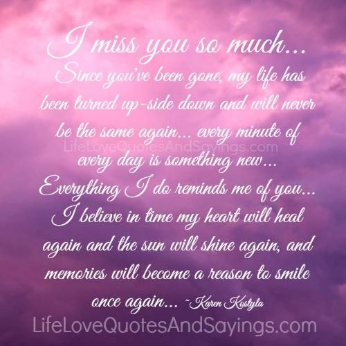 I miss you so much Poems