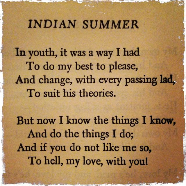 Indian Summer, By Dorothy Parker, Poetry, Pinterest .  Resume Dorothy Parker