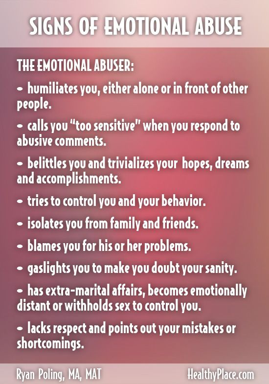 Signs Of Mental Abuse In A Relationship