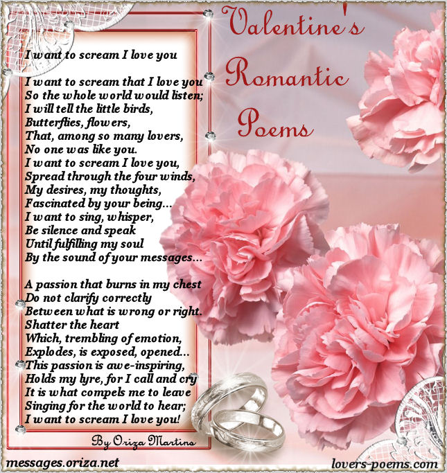 Valentines love Poems Poems