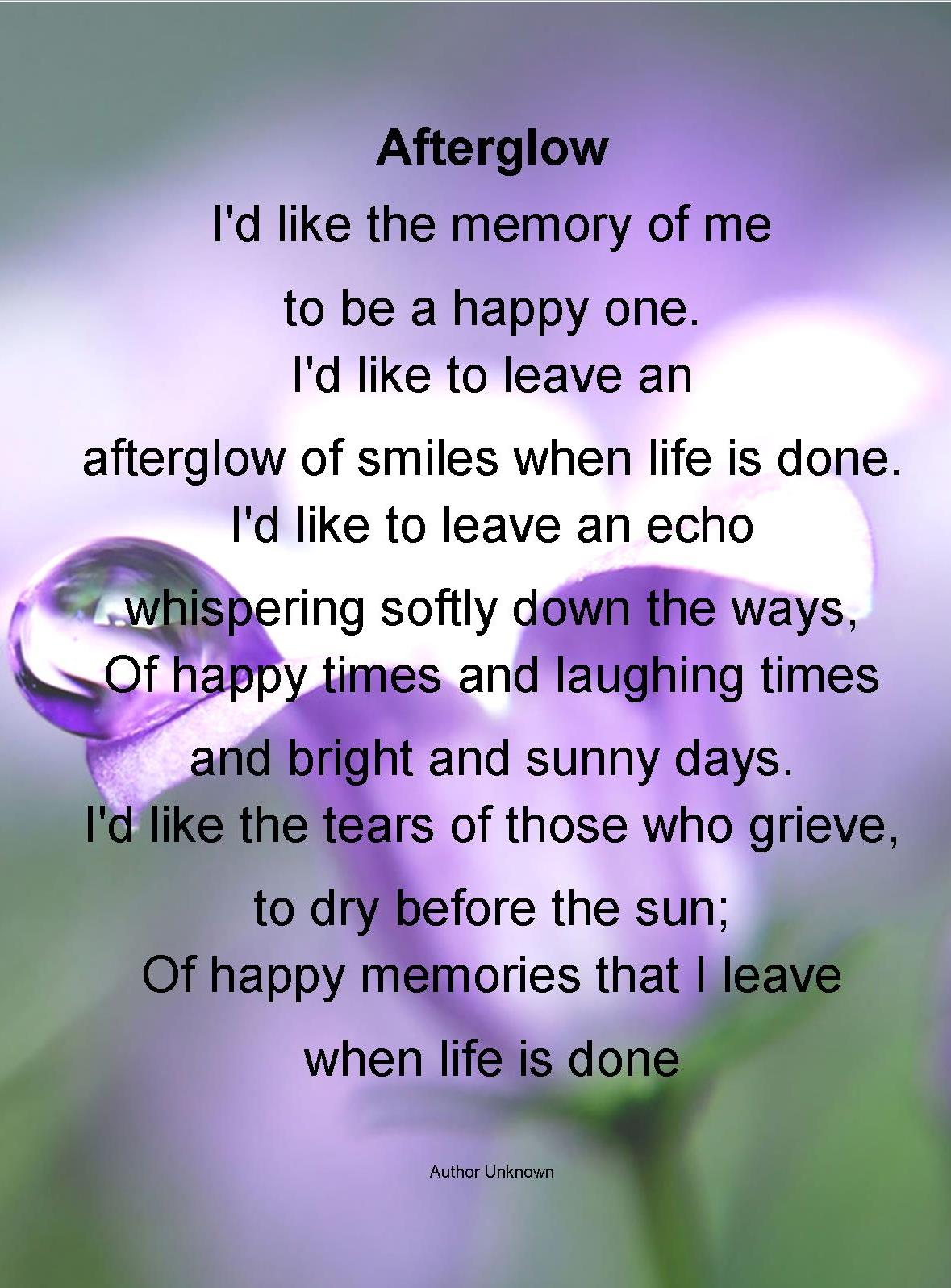 Life Is An Echo Quote Funeral Poems