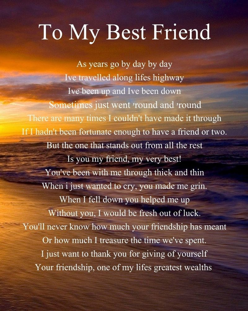 Poem for my best friend on her wedding day midway media for Best day for a wedding