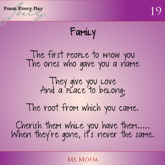 Family loss Poems Poems