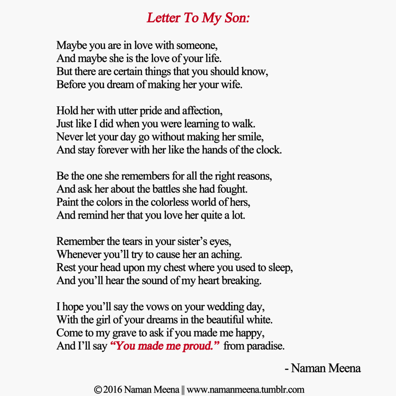 I Love My Son Poems