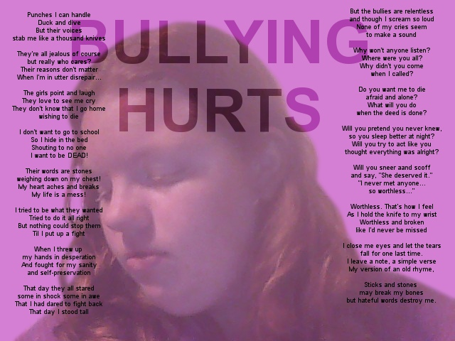 Sad bullying Poems Poems