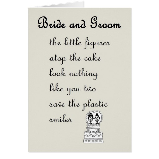 funny wedding poems for bride and groom midway media. Black Bedroom Furniture Sets. Home Design Ideas