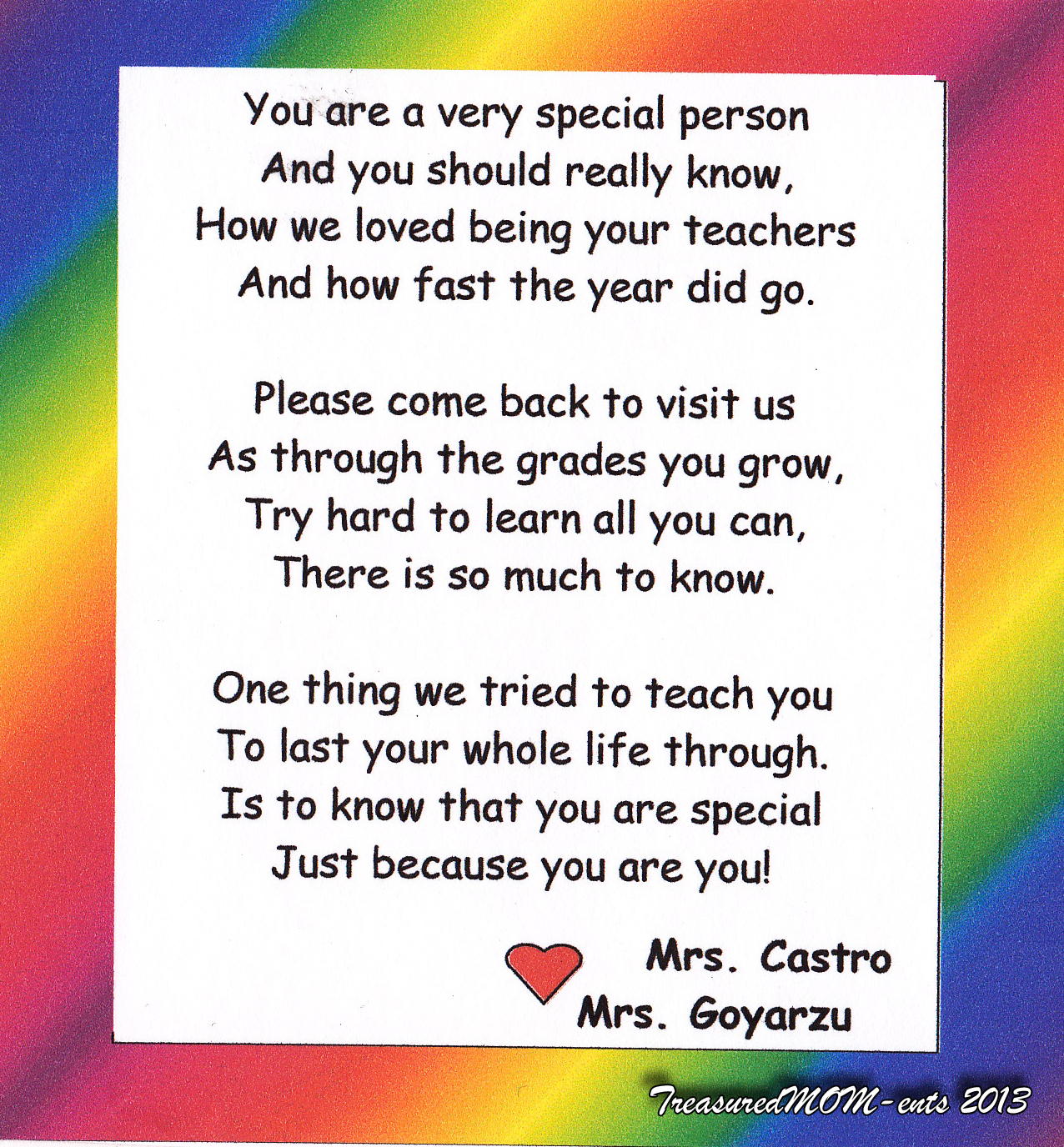 Preschool Teacher Quotes Preschool Poems