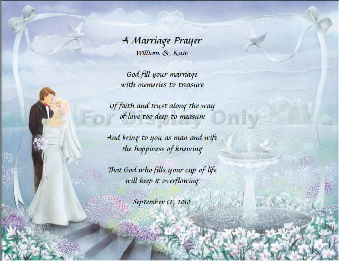 Marriage Blessings Poems Prayer