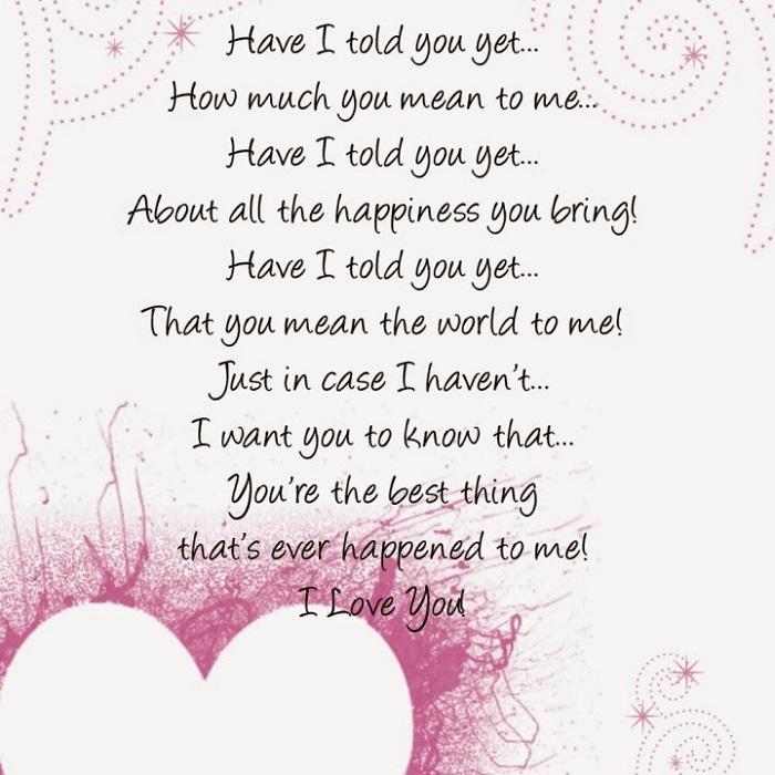 happy valentines day poems to girlfriend