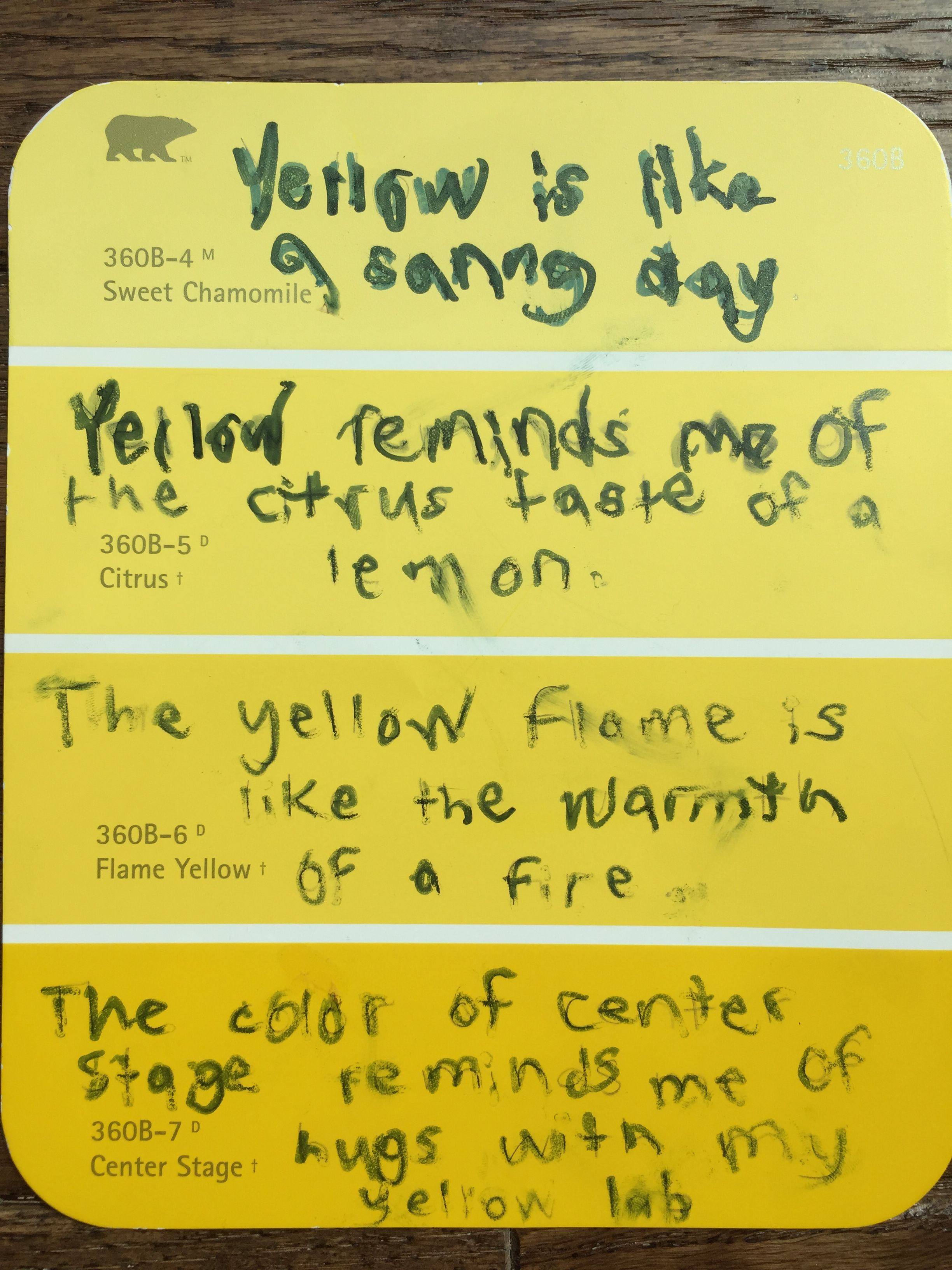 Poem about yellow colour dress