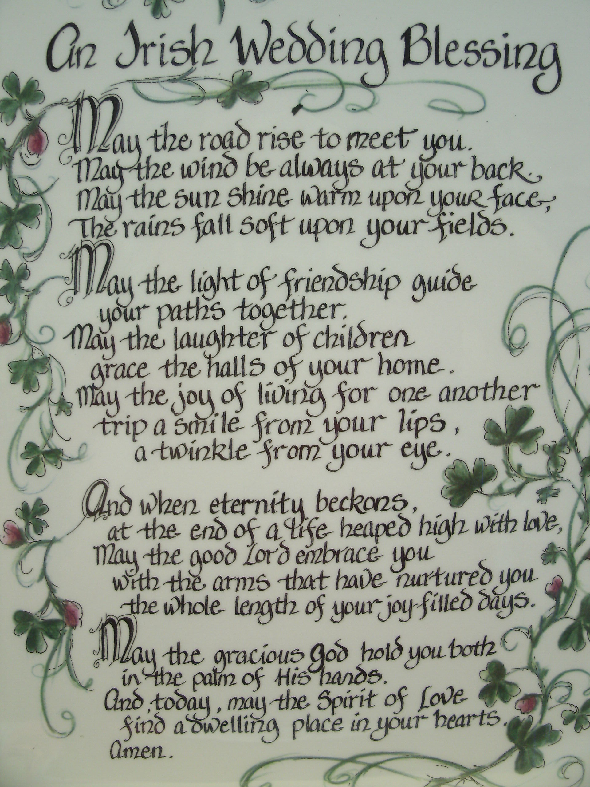 Irish Wedding Blessing I Need An Husband For My