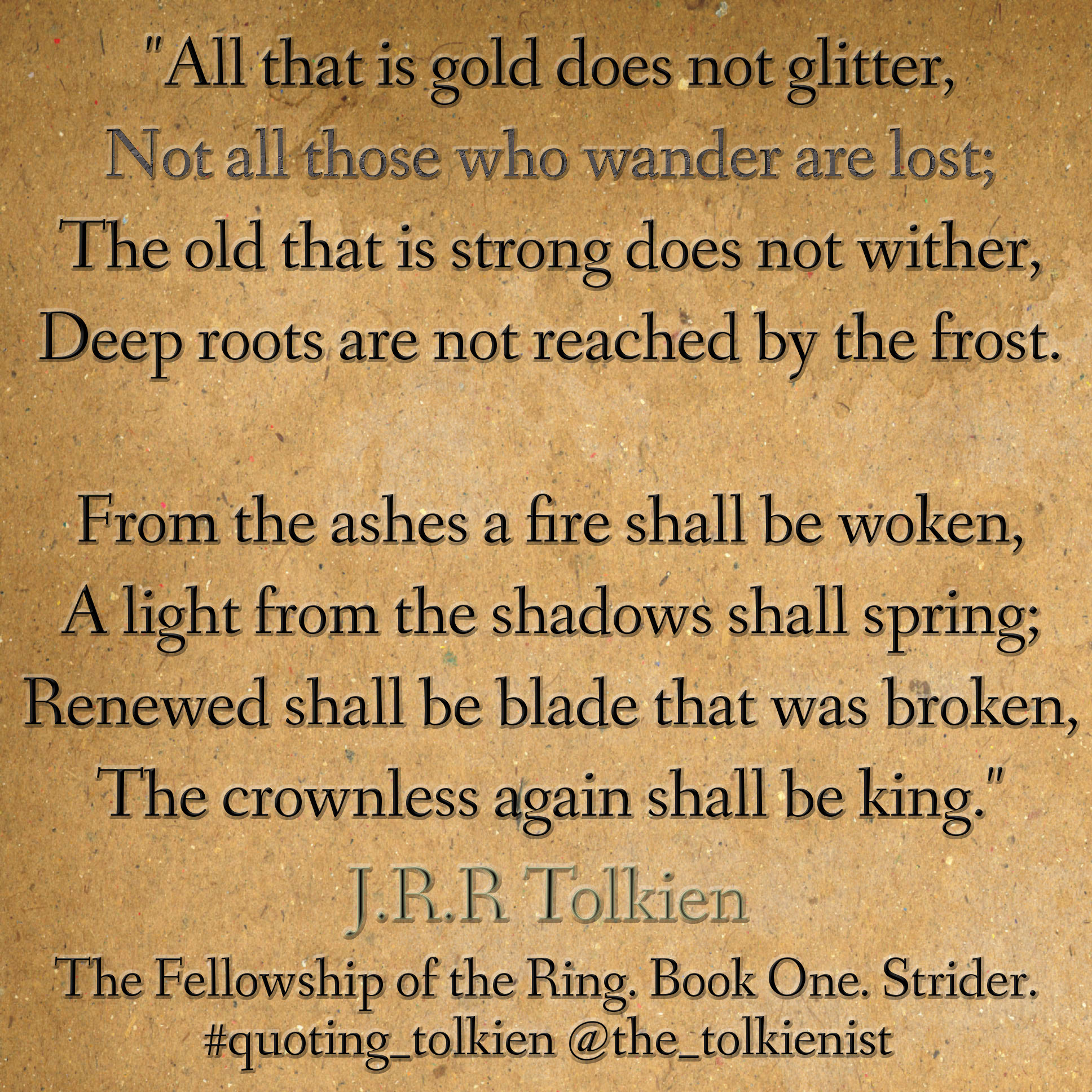 tolkien poems jrr tolkien quotes that is gold quotesgram