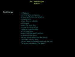 poetry and ramanujan this poem Get an answer for 'discuss the customs and traditions of the poem obituary by ak ramanujan' and find homework help for other poetry questions at enotes.