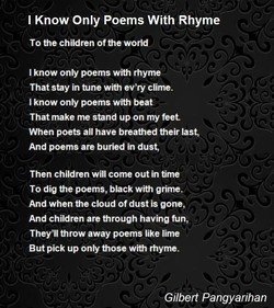 Poems poems poems i k only s with rhyme by gilbert pangyarihan sciox Choice Image