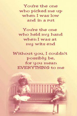 You Mean Everything To Me Poems