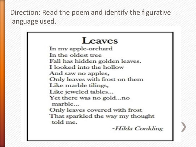 Idiom poem example.
