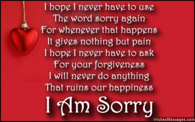 Sweet Apology Poems