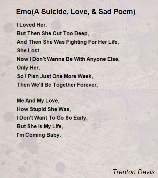 Suicide Poems And Quotes: Suicidal Love Poems