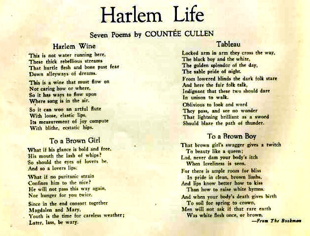 Poetry and the Harlem Renaissance