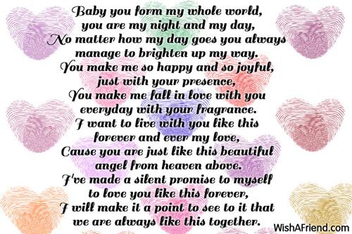 I Love You Babe Poems Custom Bbe I Love You