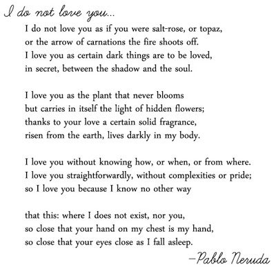 I love you because Poems