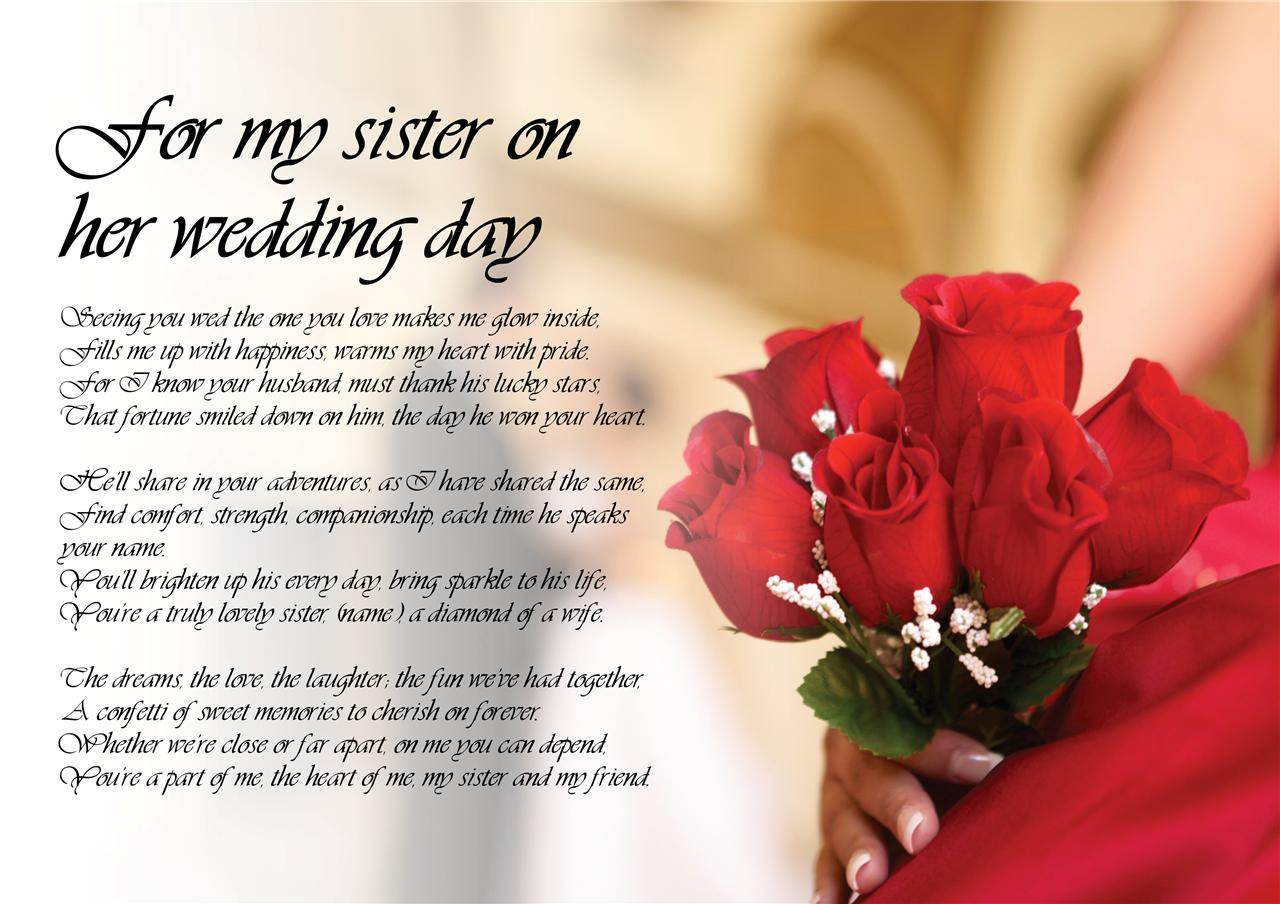 congratulation for your sister marriage