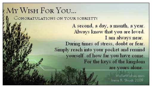 Sobriety Anniversary Poems Fascinating Quotes About Sobriety