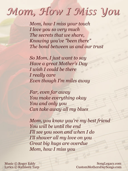 I Miss You Mom Poems