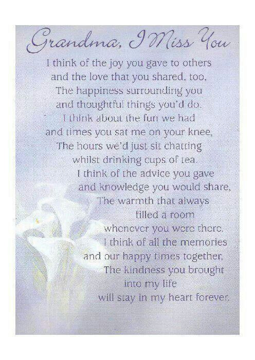 Grandma Remembrance Poems