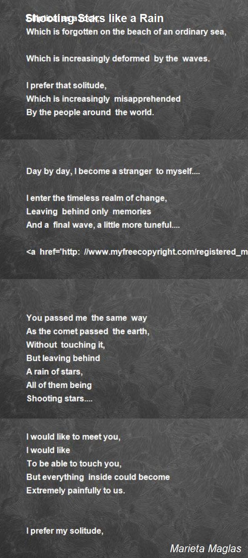Shooting stars poem essay