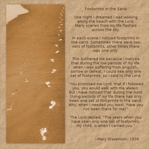 graphic relating to Footprints in the Sand Poem Printable Version known as The Ideal God Footprints In just The Sand Estimate - Mesgulsinyali