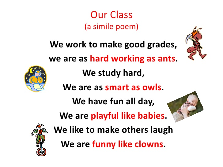 Simile Poem Examples Middle School Images Example Cover Letter For