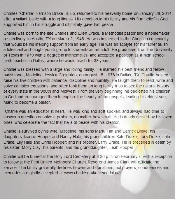 sample obituary for dad - Akba.greenw.co