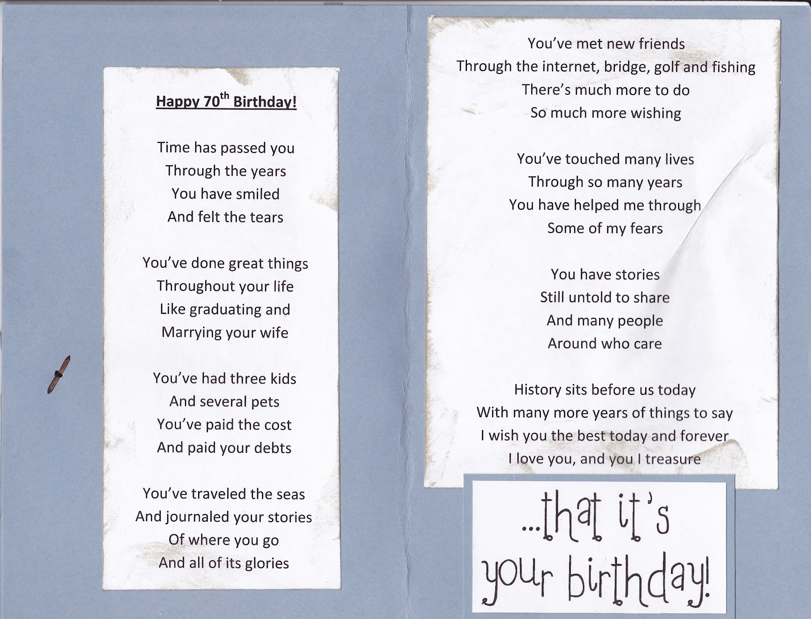 70 Birthday Poems