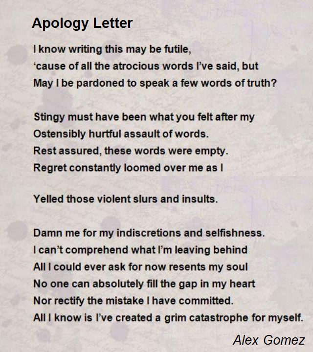 Apology Letter For Her from www.poemsearcher.com