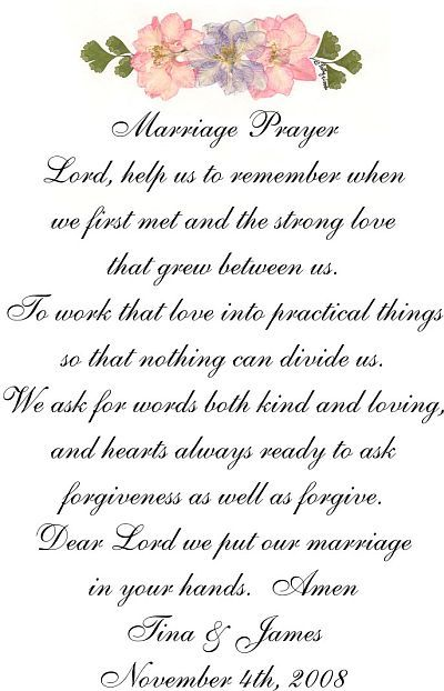 marriage blessings poems