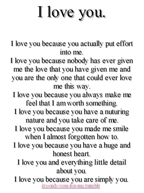 why i love you so much poems