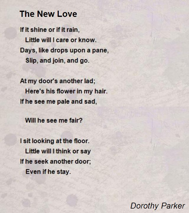 New relationship Poems