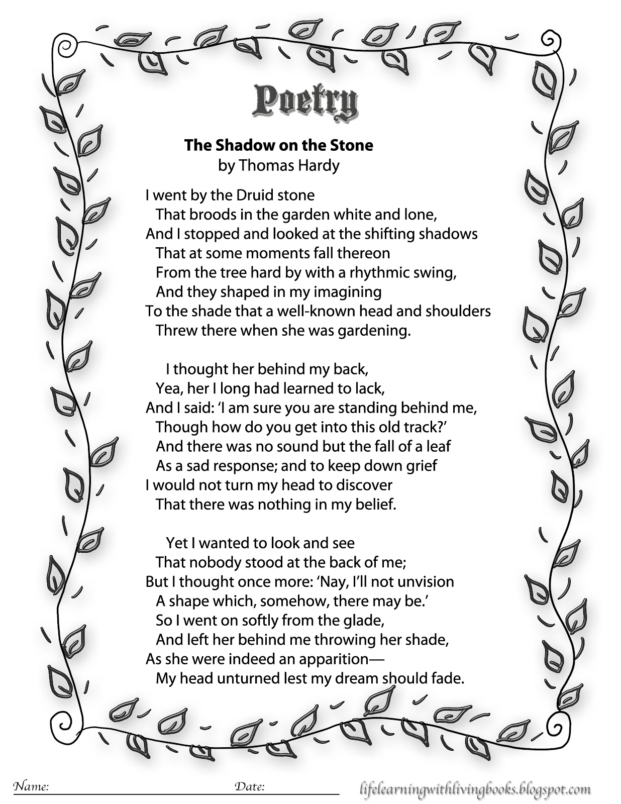 image regarding Keep a Poem in Your Pocket Printable named Printable youngsters Poems