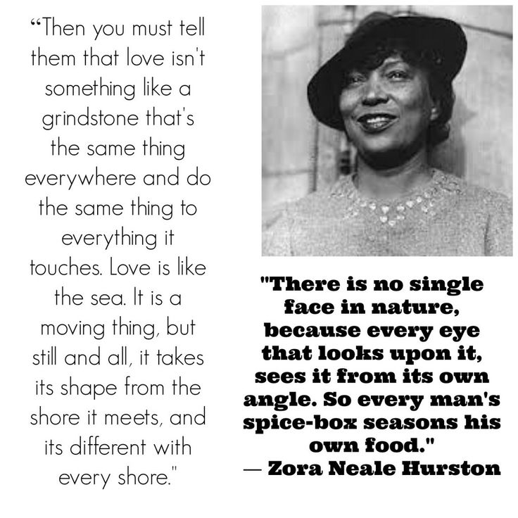 the different places in zora neale hurstons Zora neale hurston (january 7, 1891 - january 28, 1960), was an african-american novelist, memoirist, and folklorist born in notasulga, alabama, she was the fifth of eight children her mother was a teacher her father a builder and preacher.
