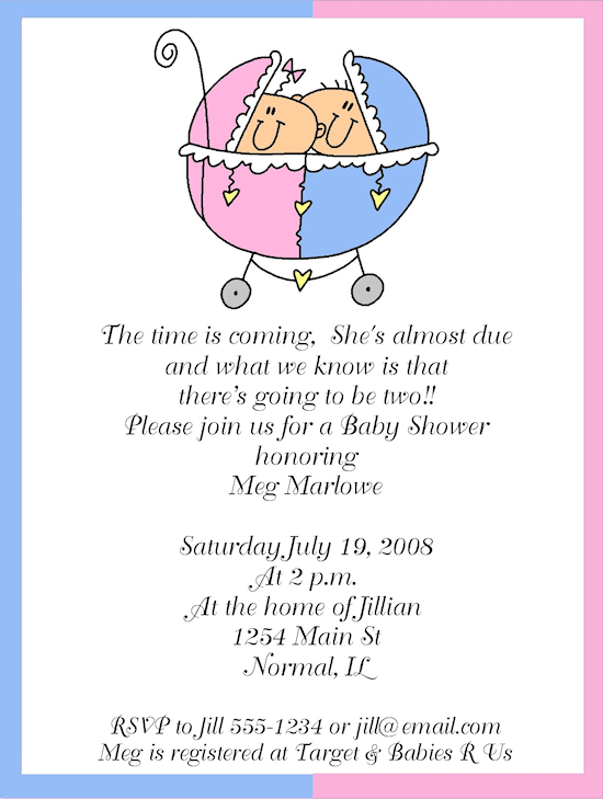 Baby Shower Phrases For Twins Baby Shower Ideas