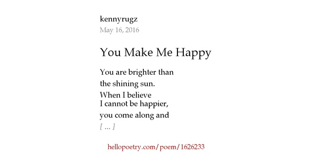 You Make Me Happy Poems