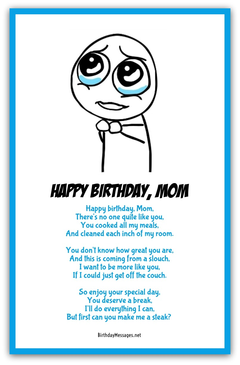 Short Mothers Day Poem: Funny Mom Poems