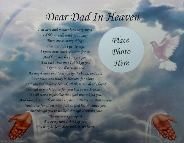 Birthday Wishes For Father In Heaven ~ Happy birthday to my dad in heaven poems