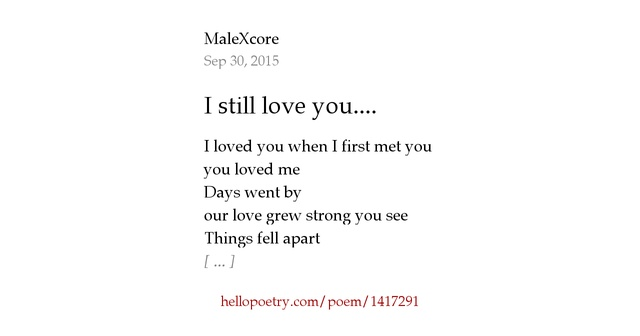 Do You Still Love Me Poems